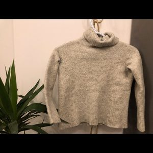 Merino Wool and Cashmere Blend Turtleneck